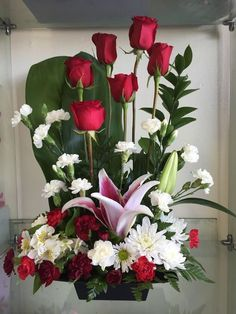 Send Brighten Her Day in Valley Village, CA from Durango Flower Shop, the best florist in Valley Village. All flowers are hand delivered and same day delivery may be available. Arrangement Floral Rose, Blue Flower Arrangements, Valentine Flower Arrangements, Valentines Flowers, Altar Flowers, Flowers Garden, Paper Flowers, Fleur Design, Memorial Flowers