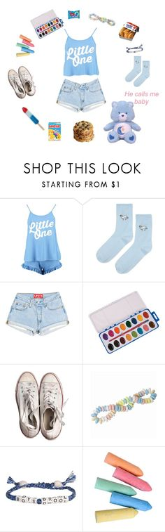 """Play with Me !!"" by stilllaughingoutloud ❤ liked on Polyvore featuring Boohoo, Topshop, Converse, Venessa Arizaga, Ultimate, ddlg, littlespace and middlespace"