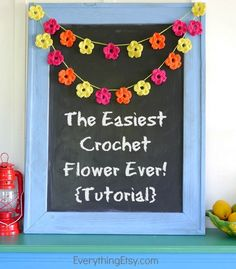 The Easiest Crochet Flower Pattern Ever!  Tutorial on EverythingEtsy.com