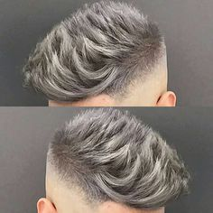 """3,760 Likes, 20 Comments - MENS HAIR STYLES & BEARDS (@menshairworld) on Instagram: """"@jose_the_barber_10 - Love that Silver Grey Colour!"""""""