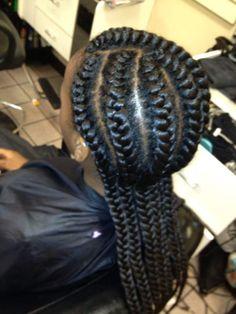 Goddess braids by stylist-Ami