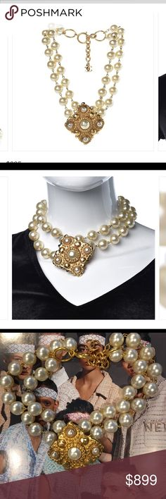 d4129bc4e75 Chanel vintage double faux pearl necklace This is rare and from house of  Chanel. Gold hardware gold plated in CHANEL Jewelry Necklaces