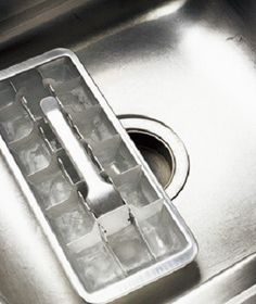 Grind vinegar and water ice cubes in your sink's garbage disposal to both clean and deodorize it. - Cleaning Hacks to Save Your Bachelor Pad | Complex