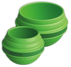 Outdoor Products Collapsible Silicone Bowl and Cup, Classic Green Outdoor Products
