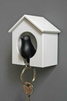 I like this... I guess you don't build it yourself... it's cool though. :)    Black Bird Keyring and House Set