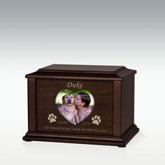 Heart or Oval Adoration Pet Cremation Urn - Engravable (PM11624)    $109.95  $54.95