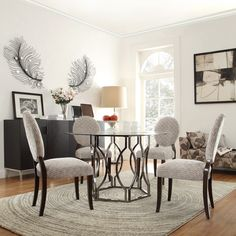 Kingstown Home Carlotta Round Glass Dining Table