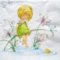 Servítka - Dievčatko