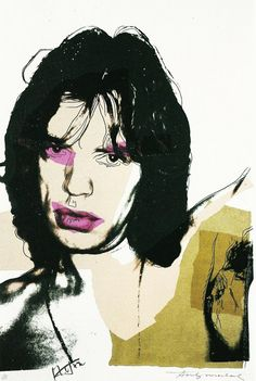 Mick Jagger, Andy Warhol 1975. Just saw this in person and I died.