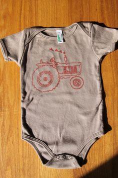 Red+tractor+onesie+by+FamilyTreeStudio+on+Etsy,+$20.00