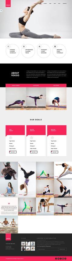 YOGGO is a #HTML Theme for #yoga or #gym center #fitness #website