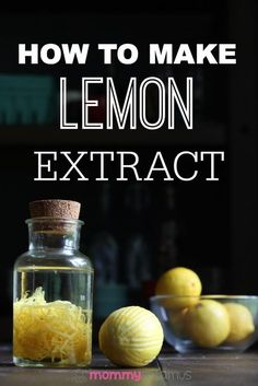 Extract How to make lemon extract to flavor lemon sugar cookies, poppyseed muffins, lemon mousse and more.How to make lemon extract to flavor lemon sugar cookies, poppyseed muffins, lemon mousse and more. Lemon Recipes, Real Food Recipes, Do It Yourself Food, Dried Lemon, Lemon Extract, Homemade Vanilla Extract, Homemade Spices, Homemade Food, Spice Mixes
