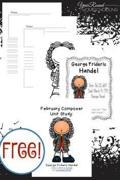 February Composer Music Study: Handel - Year Round Homeschooling