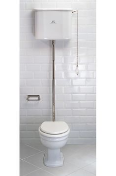 lefroy brooks la chapelle high level toilet with decorative brackets flush pipe pull and