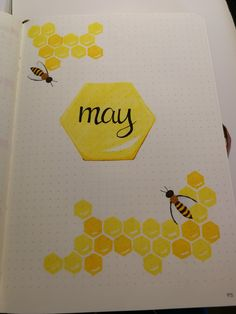honeybee May bullet journal cover