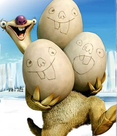 Totally something wrong with this picture... How do you get Eggs outta' Sloth?! Lol.