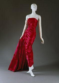 1957–58 - YSL for Christian Dior 'Lys Noir' evening dress
