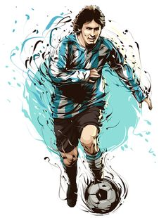 Recent Works - 2010 by Cristiano Siqueira, via Behance  Messi - fooball player