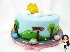 Bolos em Pasta Americana - Designer de bolos - Gabriela Lemos Cakes: Bolo Fusquinha