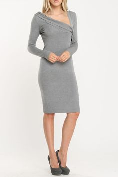 Vertigo :: Charcoal Gray :: love the neckline