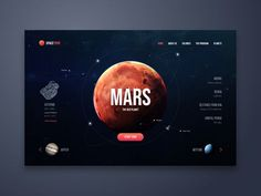 Space Tour Web UI Design designed by Angel Villanueva. Connect with them on Drib… Space Tour Web UI Design designed by Angel Villanueva. Connect with them on Dribbble; the global community for designers and creative professionals. Interaktives Design, Web Ui Design, Dashboard Design, Page Design, Layout Design, Flat Design, Icon Design, Maquette Site Web, Web Design Mobile