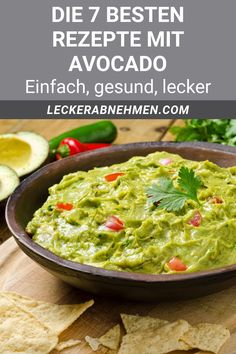 Avocado Dip, Dips, Weight Loss Tips, Feel Good, Protein, Food And Drink, Nutrition, Snacks, Vegan