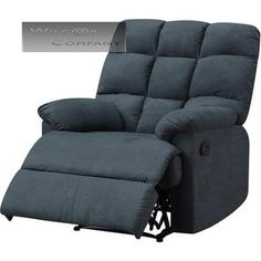 New Blue Microfiber Recliner Lazy Chair Wall Hugger Furniture Living Room Boy  sc 1 st  Pinterest : ebay lazy boy recliners - islam-shia.org