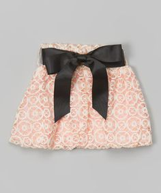 Look at this #zulilyfind! Light Pink Lace Bow Skirt - Toddler #zulilyfinds
