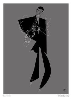 Dexter Gordon by Davide Baroni