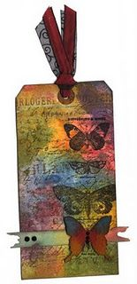 tim holtz tag - love the colors