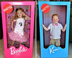 """""""Barbie Birthday Party via the TomKat Studio The parents made these """"photo booths"""", as well as the Barbie images on the stage area, as well as on the gift boxes. j/s -Breezy 6th Birthday Parties, Birthday Fun, Themed Parties, Birthday Ideas, Barbie Theme Party, Barbie Birthday Party Games, Barbie Party Decorations, Barbie Images, Bday Girl"""