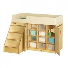 Jonti-Craft Diaper Depot with Stairs- perfect for an infant and toddler centre