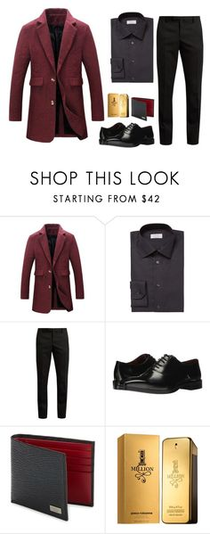 """Untitled #6"" by merve-hotkid on Polyvore featuring ETON, Yves Saint Laurent, Massimo Matteo, Salvatore Ferragamo, Paco Rabanne, men's fashion and menswear"