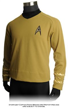 ANOVOS offers the Premier Line version of the Command Division tunic from Star Trek™ The Original Series' Third Season, as worn by Captain James T. Kirk.  ANOVOS's focus is on providing the most accurate representation of the 60's era top using decades worth of accumulated research and access to original pieces.   Using the exact double-knit fabric, elusive diamond-weave neck material, & patterns drawn from a screen-used hero Spock uniform, this top will meet every fan expectation.  $294.95…