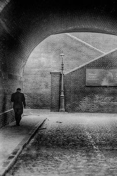 The Street Lamp by John Claridge - Bethnal Green, London Monochrome Photography, City Photography, Black And White Photography, Vintage London, Old London, East End London, Photography Essentials, Black And White City, Bethnal Green