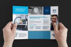 Plumbing Service Brochure Template by BrandPacks on @creativemarket