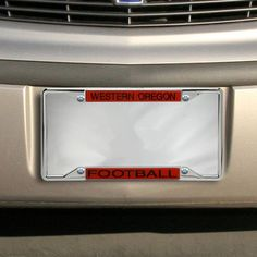 western oregon wolves acrylic football license plate frame - Miami Dolphins License Plate Frame