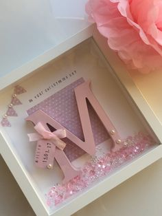 Personalised box frames. by LittleBellesButtons on Etsy