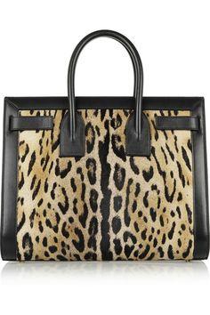 Saint Laurent Sac De Jour small leopard-print calf hair and leather tote NET-A-PORTER.COM