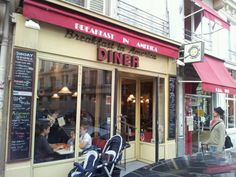 Breakfast in America in Paris, Île-de-France-Breakfast in America (known lovingly amongst regulars as B.I.A) offers bona fide American diner surroundings, all-day breakfasts and artery clogging delights like sticky pecan pie, washed down with bottomless mugs o' Joe. Needless to say it's a hit with the brunch crowd who come in droves so large they queue up outside, rain or shine..