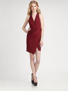 Haute Hippie - Asymmetrical Draped Dress - Saks.com