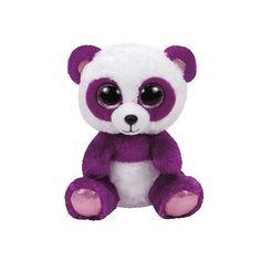 "Ty Beanie Boos 6"" Boom Boom the Purple Panda Ty"