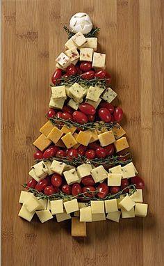 tomates et fromages de noel