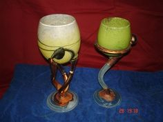 Wine Glass, Glass Art, Metal, Tableware, Vases, Dinnerware, Jar Art, Tablewares, Jars