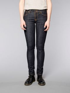 Skinny Lin Twill Navy - Nudie Jeans Co Online Shop