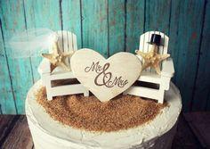 Adirondack beach wedding chairs-Adirondack chairs-wedding cake topper-beach chairs-beach wedding-destination wedding-beach-custom by MorganTheCreator on Etsy Trendy Wedding, Diy Wedding, Dream Wedding, Wedding Beach, Beach Weddings, Wedding Ideas, Destination Weddings, Indian Weddings, Purple Wedding