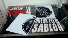 SAMBUNG KERTAS A4 UNTUK FILM SABLON | SCREEN PRINTING TUTORIAL