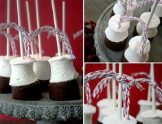 Recipe: Chocolate Ganache Block and Roasted Marshmallows on a stick.