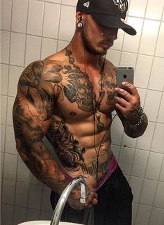 15f1c5d031b51 153 Best Bad-Boy Tatts images in 2019 | Tatted men, Tattoo ideas ...