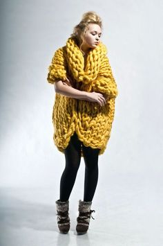 Giant Yellow Sweater